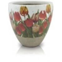 Вазон тюльпаны