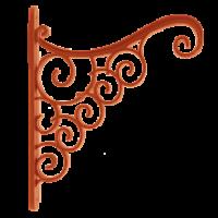 Аккант терракотовый