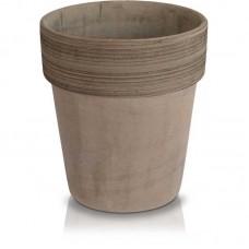 Глиняный вазон кофейный