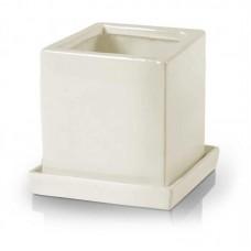 Керамический горшок квадратный