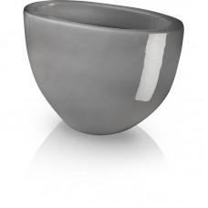 Вазон овальный серый