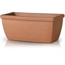 Глиняный вазон-коробка